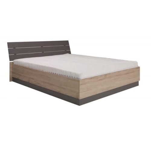 łóżko Sypialniane Z Pojemnikiem Diana Typ D04 Dąb San Remo Popiel